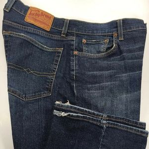 Lucky Brand Mens Jeans Bootcut 34×35 Long Length